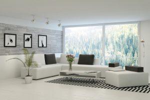 Decoración de salón estilo moderno
