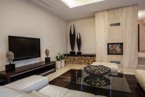 Salas modernas con chimeneas