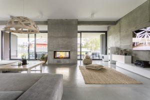 Salas pequeñas con chimenea