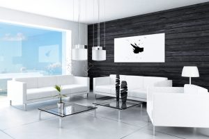 el sofá en la sala moderna