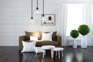 iluminación en las salas modernas