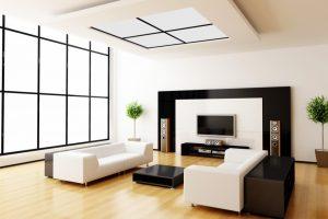 iluminación en salas de estar modernas