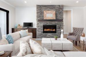 imágenes de salas modernas con chimenea