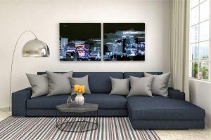 sofá en salas modernas