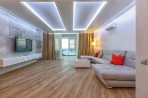 Iluminación para sala moderna