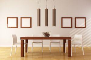 Mesa de comedor de madera noble