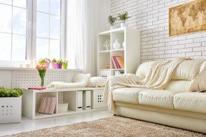 Salas de estar pequeñas modernas y acogedoras