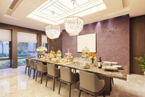mesas de comedor estilo moderno con las sillas