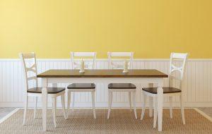 pintar paredes comedor moderno