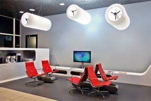 salas de espera modernas y acogedoras